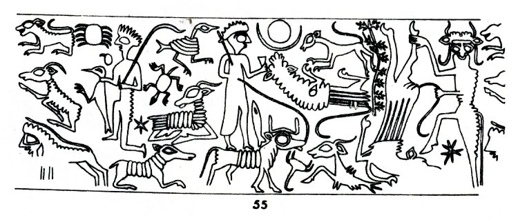 8b - Enlil-bani envelope & depiction, Enlil-bani, Enki's mixed-breed son-king of Isin, alien gods having sex with the daughters of men continued to happen after the Great Flood