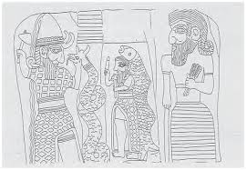 8c - Ishkur - Adad, Ningishzidda as a snake, Enki as Dagon, & Ninurta, Babylonian scene,  many artefacts of giant gods & cubeiform texts inform us quite a bit about the giants, artefacts of their deeds for thousands of years, & for different periods in our history, SEE TEXTS ON ADAD & KINGS ON THIS PAGE