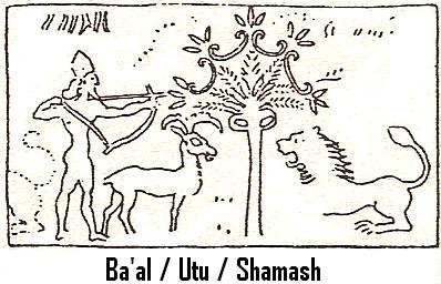 8e - Ba'al - Utu - Shamash, etc., on a hunting expedition, giant alien god Utu was known all over the world by many names; Shamash, Ningublaga, Numucda, Ba'al, Allah, etc, throughout the entirety of man's history, Utu is part of the 3rd generation of giant alien gods on Earth Colony