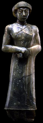 8e - Gudea, mixed-breed giant Governor of Lagash, artefacts like these are being destroyed by Radical Islam, attempting to eliminate historical artefacts that contradicts the teachings of Islam