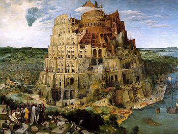 8e - Tower of Babel, destroyed by uncle Enlil, his sons, & his grandchildren, punishing Marduk for attempting to construct his own space port without permission from Enlil, Enlil then confused the tougue of Babylon into many languages, slapping down Marduk & creating total chaos