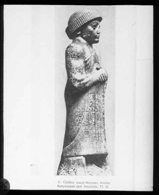 8ee - Lagash King Gudea, son to the goddess Ninsun, artefacts like these are being destroyed by Radical Islam, attempting to eliminate historical artefacts that contradicts the teachings of Islam