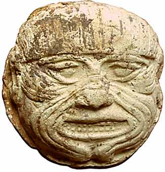 8g - Humbaba, Enlil's creation used to protect his residence in the cedar forest of Lebanon, killed by Enkidu & Gilgamesh