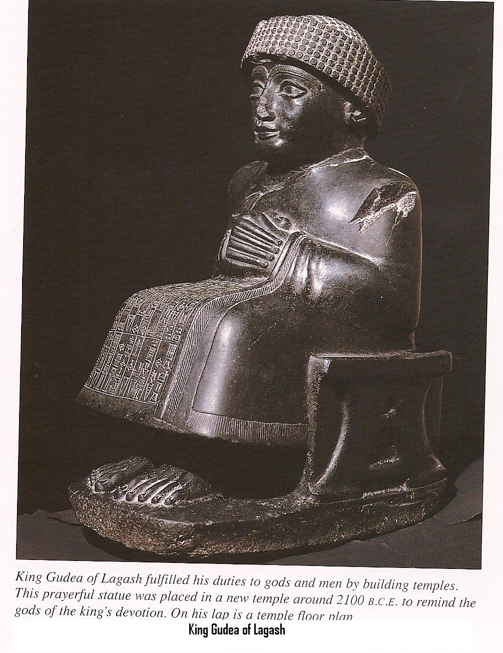8g - giant mixed-breed King Gudea of Lagash, artefacts are under attack by Radical Islamists, they have destroyed thousands of them recently, as they strive to build a Caliphate for Islam, allowing no contradictory knowledge of ancient history