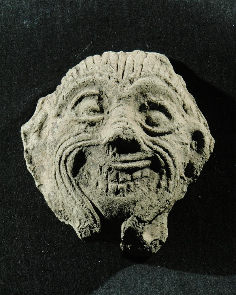 8h - Humbaba artefact later made, 2,000-1,500 B. C., Enlil's creation used to protect his residence in the cedar forest of Lebanon, killed by Enkidu & Gilgamesh
