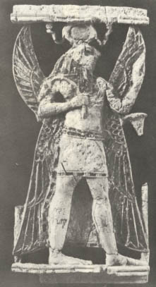 8w - ivory plaque of Horus, ancient artefact of Egyptian god found in the Mesopotamian city of Nimrod, the city patroned by the god Ninurta, Nimrod ancient site has now been destroyed by Radical Islam, fearing the ancient knowledge it represents that is a direct contradiction to 7th century Islamic doctrines