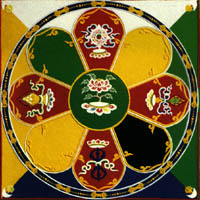 9 - Buddhist Mandala, Anu's 8-pointed star symbol used by Buddhists depicting God, or Enlightenment