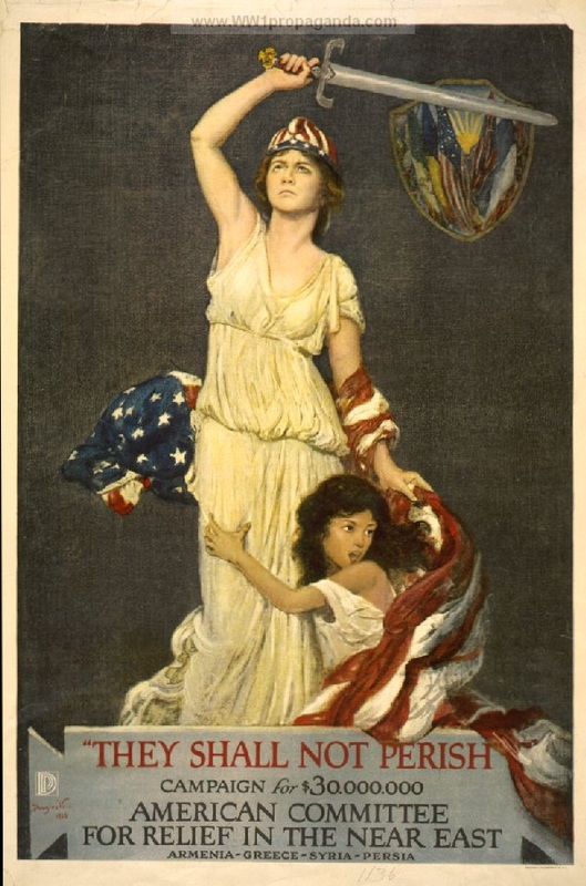 "9d - WW I, goddess Columbia, ""Thou Shalt Not Perish"""