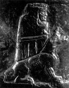 giant alien goddess Bau - Gula & her dog, alien giant Anunnaki gods from Nibiru came to Earth, domesticated pets & raised animal herds for clothing, food, protection, etc.