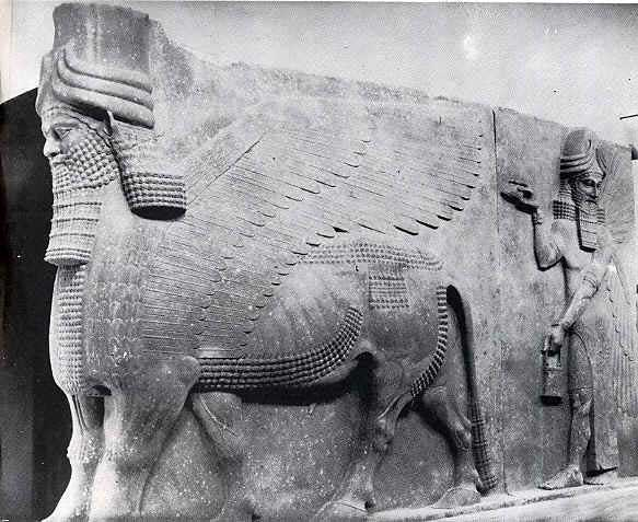 21 - artefact of giant Shedus protect the gates to Mesopotamian cities of the gods, these could have been actual creatures fashioned by Enki & Ningishzidda, these artefacts of the alien gods are shamefully being destroyed by Radical Islam, attempting to eliminate ancient knowledge, evidence that directly contradicts the 7th century A.D. doctrines of Islam