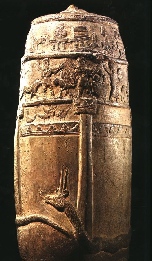 Kudurru - boundary stone Amiet aretfact, placed by kings invoking the power of the gods against any who defy the boundary