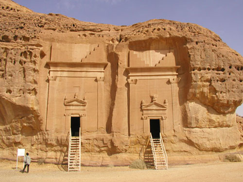 gigantic ancient rockwork tombs of the giant alien offspring made kings, mixed-breed kings & others protected by the alien gods, buried in grand style