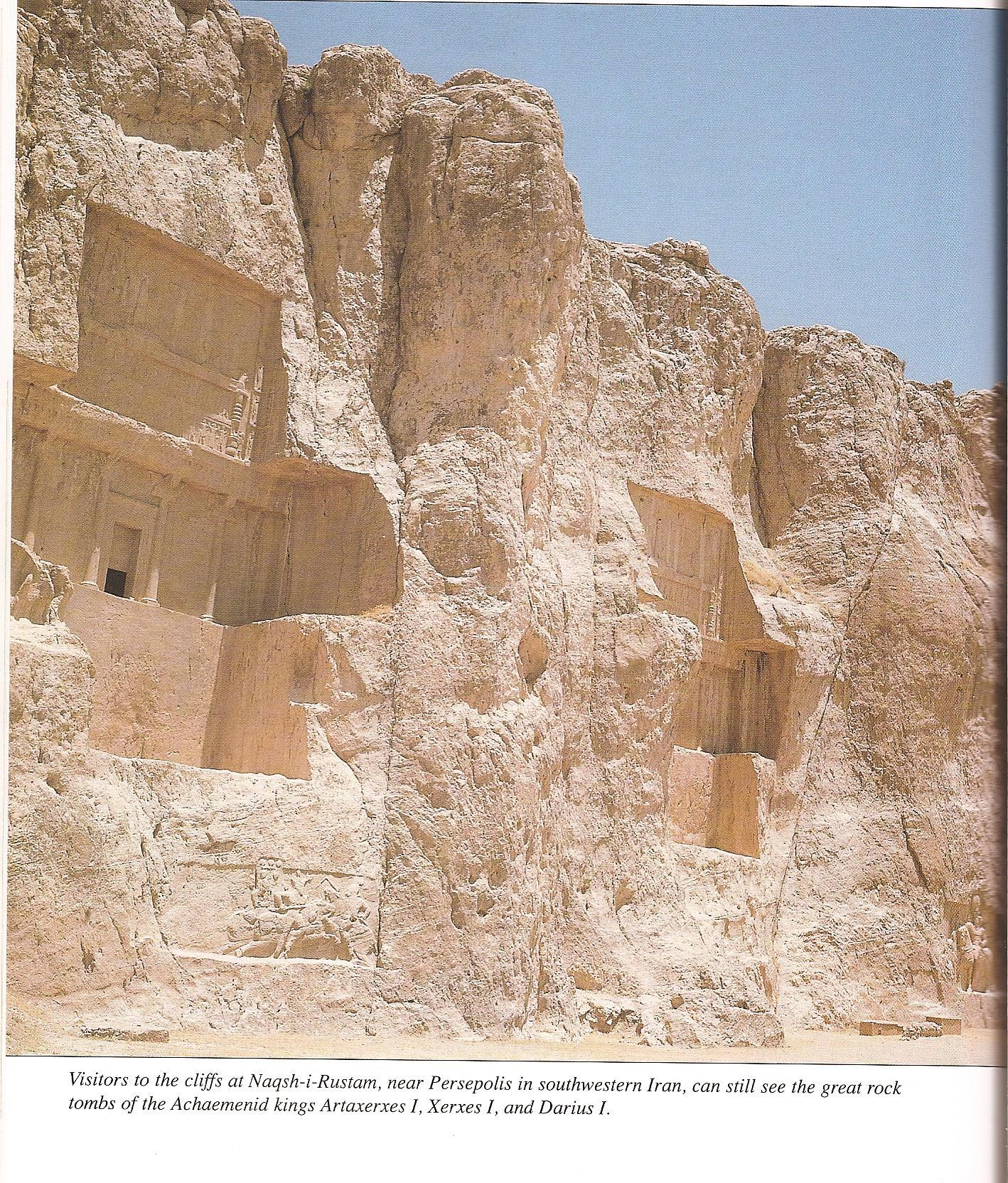 tombs of kings Darius, Xerxes, & Arta-Xerxes, ancient tombs of Persian giant mixed-breed kings in Iran, alien bloodline, mixed-breed kings & others protected by alien giant gods, their offspring were buried in grand style & preserved for history, until Radical Islam destroyed them