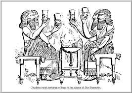 drinking bouts of the gods could last for weeks, the alien gods of ancient Mesopotamia brewed their own beer, & vats of wine thousands of years ago, Enki's daughter Ninkasi was the Goddess of Beer-Making there