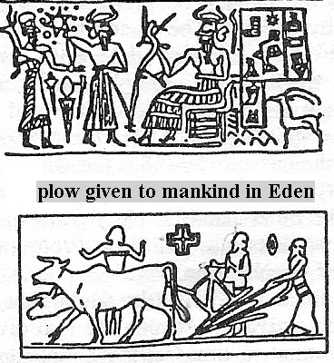 very early modern earthling Cain learned to farm, how, when, why, all taught to the earthlings by the giant alien gods, who came down from the heavens