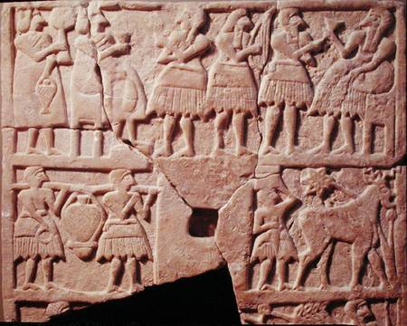 goddess Ninhursag & brother god Enki at a banquet scene, catered for the gods by early earthlings, artefacts of the giant alien gods are shamefully being destroyed by Radical Islam, attempting to eliminate ancient knowledge, evidence that directly contradicts the 7th century A.D. doctrines of Islam