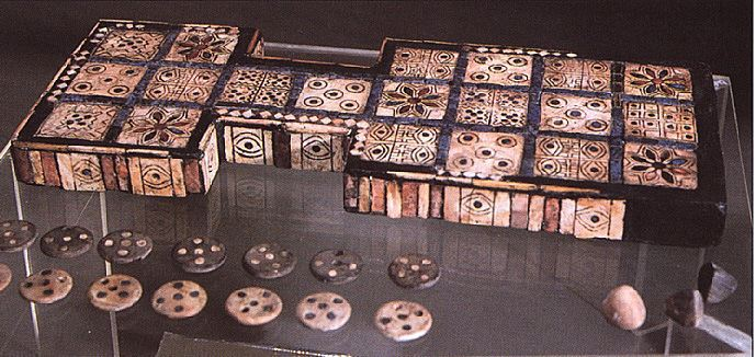 ancient Ur artefact of a board game, recreation taught to the earthlings in the advanced city of Ur, Nannar's patron city, Nannar brought civilization to this advanced state, SEE UR ARTEFACTS & KINGS ON NANNAR'S PAGE UNDER UR