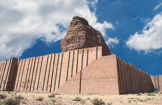 Marduk's Tower of Babel, constructed on the fertile plains with mud bricks, standing high in the sky as if it were god's mountain, Marduk's launch tower of Babel was denied by Enlil, destroying the tower & confusing the language, to many languages suddenly spoken by Marduk's earthling followers