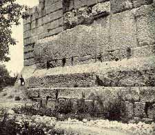 Baalbek Temple ruins, the largest stone blocks ever found on Earth, much later the Greeks, then Romans, constructed a temple to Enlil - Zeus atop the old alien blast-off platform, similar platform to the Temple Mount in Jerusalem