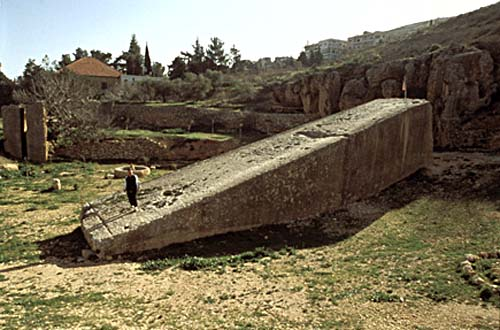 Baalbek Lebanon, largest quarried stone blocks ever discovered on Earth, to be used for the giant alien gods launch & landing pad in Baalbek
