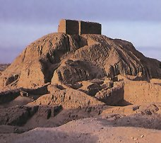 Enlil's patron city of Nippur below Enlil's ziggurat - home away from home on Earth, originally built by the giant Anunnaki aliens hundreds of thousands of years ago, repaired by many mixed-breed kings, SEE CONSTRUCTION TEXTS BELOW