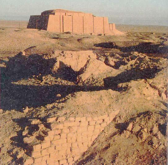 ancient mud brick-built Sumerian home for a giant alien god, the Bible mentions in Genesis 6:4, those alien sons of god(s) that came down, fashioned man into their image & into their likeness, to be their replacement workers on Earth Colony