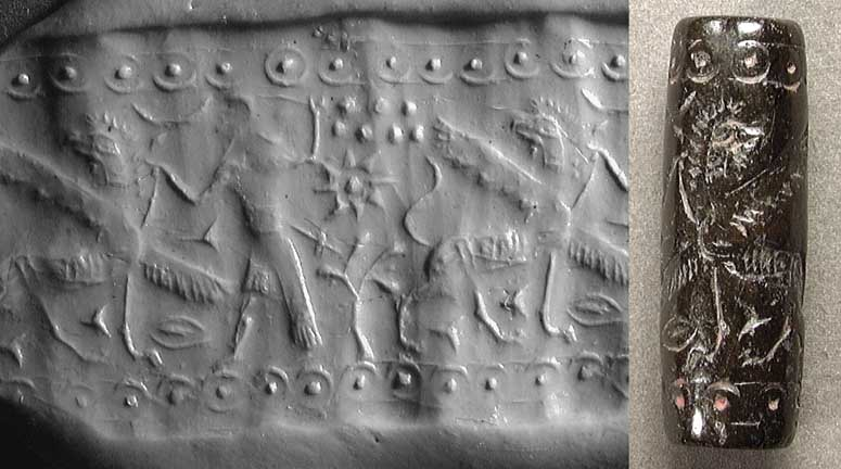 ancient Mesopotamian hunting tale, Ninurta attacked & killed the unwanted demons