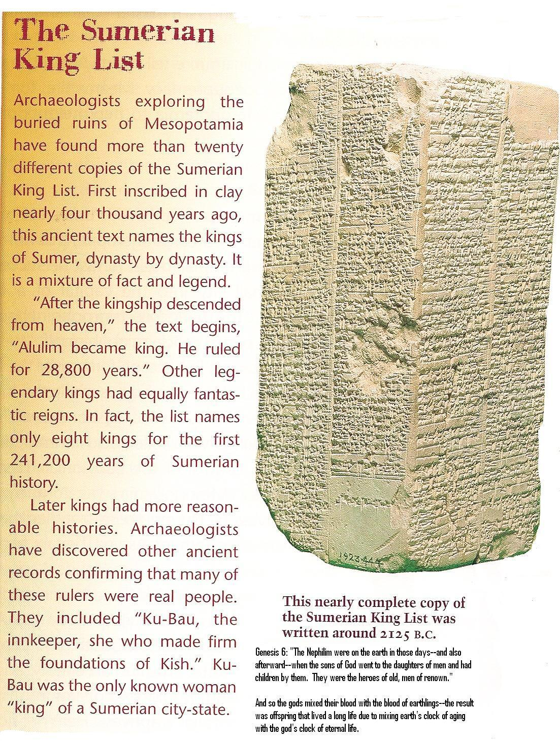"""""""Kingship was lowered from Heaven"""" to begin on Earth at Kish. Anu and Enlil established there a """"Pavilion of Heaven"""" In its foundation soil, for all days to come…"""