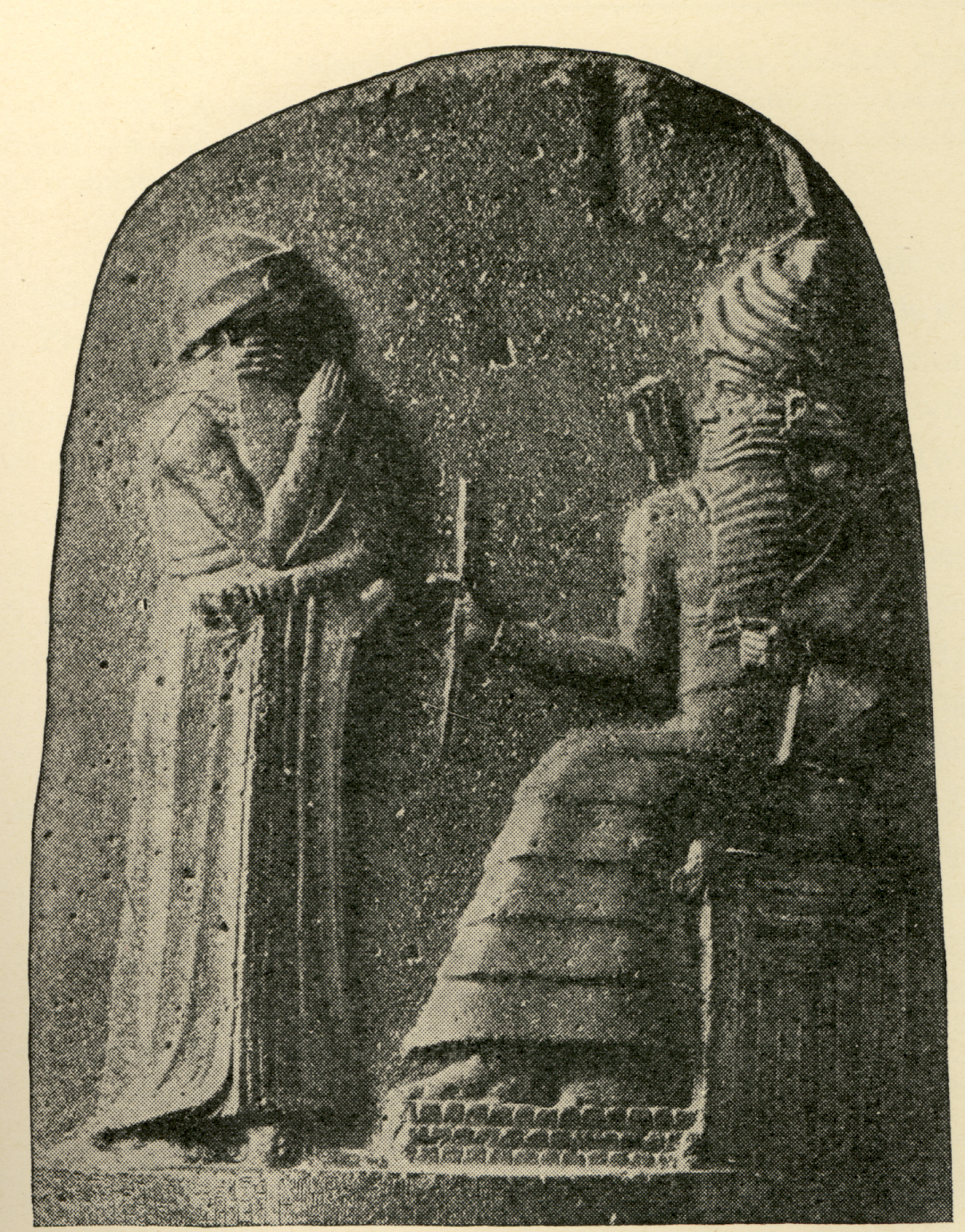 Shamash & giant mixed-breed Babylonian King Hammurabi the Great, kingship established in heaven was brought to Earth and given to earthling mixed-breeds, who were protected by their bloodline ancestor alien giant gods, sons of god(s) who came down to Earth, & had sex with the daughters of men, producing offspring who were much bigger, stronger, faster, smarter, & lived much longer than the earthlings