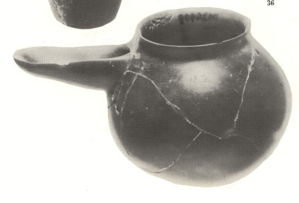 Sumerian bowl with spout artefact from 3000 + B.C.