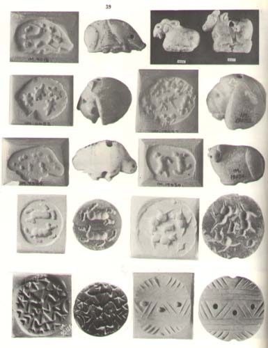 3,000 B.C. Sumerian artefacts of stamped seals , images carved into rock, & rolled onto wet clay, fired hot to harden & preserve