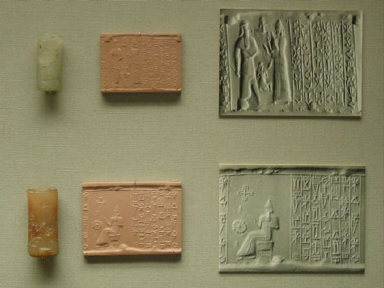ancient printing press, captured scene recorded & distributed to the city-states in Mesopotamia
