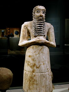 Mesopotamia male worshiper from 2,750-2,600 B.C.