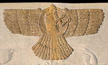Asar - Ashur - Osiris in his winged disc, technology of the alien gods who colonized the Earth