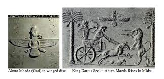 alien god Ashur protects giant mixed-breed King Darius, artefacts of the alien gods are shamefully being destroyed by Radical Islam, attempting to eliminate ancient knowledge, evidence that directly contradicts the 7th century A.D. doctrines of Islam