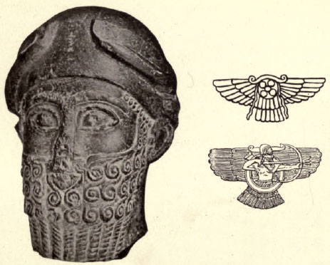 alien god Ashur, son to Marduk, in his sky-disc