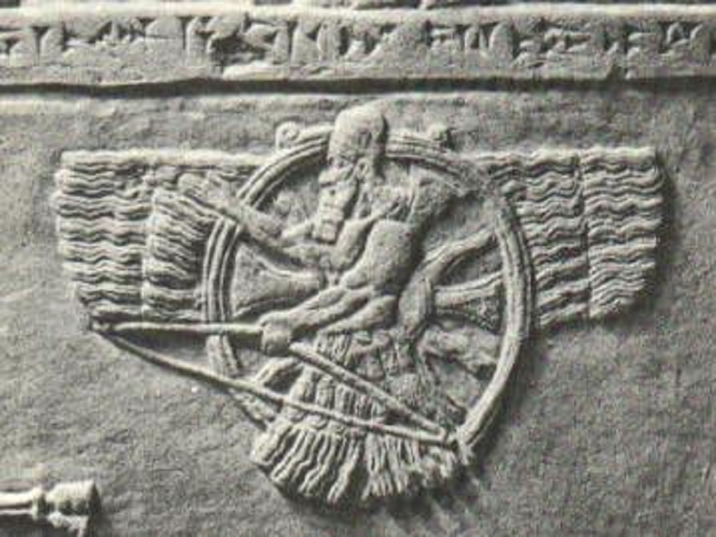 giant alien god Ashur, the protector god of Assyrian kings, artefacts of the alien gods are shamefully being destroyed by Radical Islam, attempting to eliminate ancient knowledge, evidence that directly contradicts the 7th century A.D. doctrines of Islam