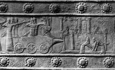 Mesopotamia, the cradle of civilization, the place where the wheel was given earthlings by the gods, originally used for war