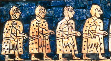 early Sumerian foot Infantry, armies were created by the gods for the protection of their mixed-breed offspring made into kings