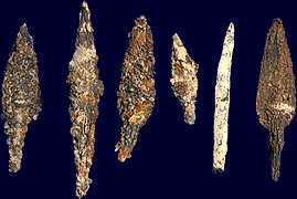 Sumerian artefacts of arrowheads, armies were created by the gods for the protection of their offspring mixed-breed son-kings