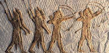 Mesopotamian army of slingers & archers, armies were created by the alien gods for the protection of their mixed-breed offspring son-kings