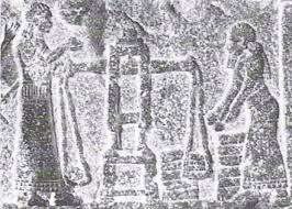 ancient artefact depiction of Sumerian scales, ancients further ahead in technologies posessed verses unaltered evolution, knowledge granted earthlings by the alien gods