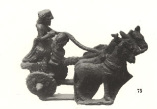 3,000 + B.C. artefact of a Sumerian man & woman in a chariot, man was given the wheel for uses of hauling, travel, trade, & war