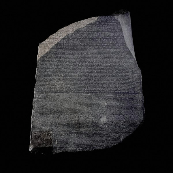 priceless artefact, the Rosetta Stone, a stele with 3-languages, from the time following the confusing of tongues in Babel, when many languages appeared upon the Earth all at once