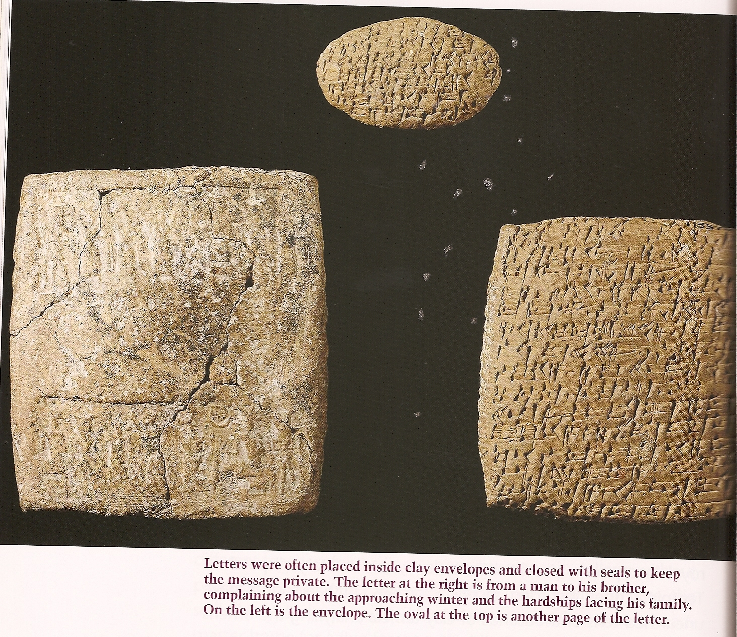 ancient Mesopotamian letters & envelopes, knowledge given mankind by the alien gods who came down
