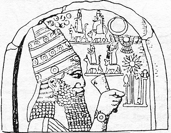 1r - Sumerian mixed-breed king with alien tech on his wrist, & many symbols of the gods who protected him from above, flying discs are found everywhere in Mesopotamia, some with pilots shown, some not, this symbol is very much around today