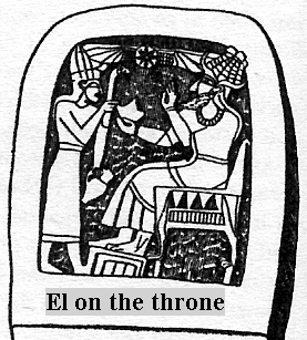 1u - El - Nannar, patron god of Ur, patron god of Biblical Abraham from Ur,  king stands before giant alien god Nannar, seated on his throne, the Nephilim were on the Earth in those days, & the days after