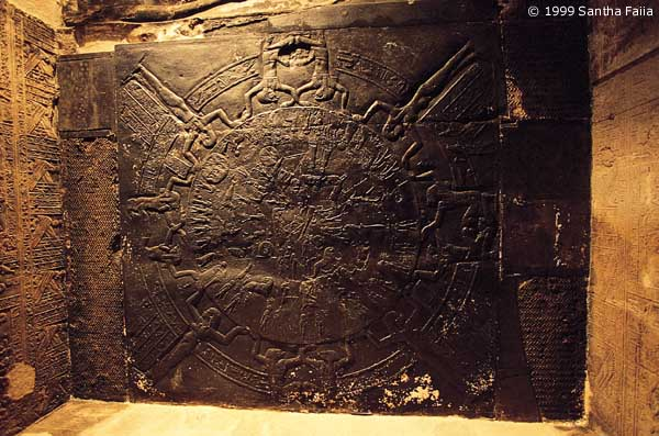 2f - ancient artefact wall of an Egyptian Zodiac, sky-clocks given to mankind by the gods, only gods lived long enough to track the stars for thousands of years