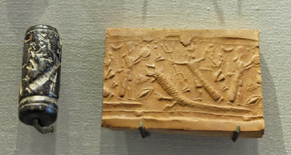 3d - Inanna & Marduk, ancient depiction of Marduk's battles