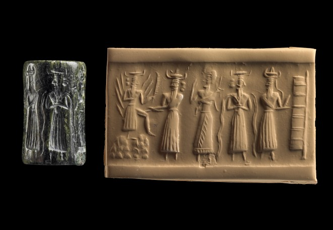 3h - Utu, Enlil, unidentified giant mixed-breed king with dinner, Enki, & an Anunnaki scribe, artefacts of the gods & mixed-breed giants are being shamefully destroyed by Radical Islam, these artefacts have lasted thousands of years, & have quite a lot to show & tell, the truth about our past is not to be known, or power over people held by religions will surely dissolve away